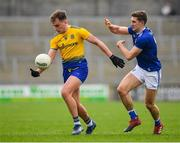 24 February 2019; Enda Smith of Roscommon in action against Killian Clarke of Cavan during the Allianz Football League Division 1 Round 4 match between Cavan and Roscommon at the Kingspan Breffni Park in Cavan. Photo by Seb Daly/Sportsfile
