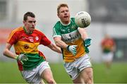 24 February 2019; Niall Darby of Offaly in action against Sean Gannon of Carlow during the Allianz Football League Division 3 Round 4 match between Offaly and Carlow at Bord Na Mona O'Connor Park in Tullamore, Offaly. Photo by Matt Browne/Sportsfile