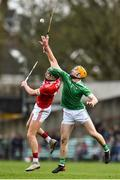 24 February 2019; Aidan Walsh of Cork in action against Richie English of Limerick during the Allianz Hurling League Division 1A Round 4 match between Limerick and Cork at the Gaelic Grounds in Limerick. Photo by David Fitzgerald/Sportsfile
