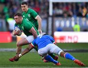 24 February 2019; Dave Kilcoyne of Ireland in action against Maxime Mbanda of Italy during the Guinness Six Nations Rugby Championship match between Italy and Ireland at the Stadio Olimpico in Rome, Italy. Photo by Brendan Moran/Sportsfile