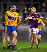 24 February 2019; Jack Browne of Clare celebrates at the final whistle during the Allianz Hurling League Division 1A Round 4 match between Clare and Wexford at Cusack Park in Ennis, Clare. Photo by Eóin Noonan/Sportsfile