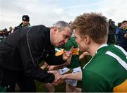 24 February 2019; Kerry manager Peter Keane and Tommy Walsh following the Allianz Football League Division 1 Round 4 match between Galway and Kerry at Tuam Stadium in Tuam, Galway.  Photo by Stephen McCarthy/Sportsfile