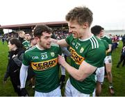 24 February 2019; Tomás Ó Sé, left, and Tommy Walsh of Kerry following the Allianz Football League Division 1 Round 4 match between Galway and Kerry at Tuam Stadium in Tuam, Galway.  Photo by Stephen McCarthy/Sportsfile