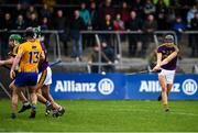 24 February 2019; Jack O'Connor of Wexford has a shot on goal late in the game during the Allianz Hurling League Division 1A Round 4 match between Clare and Wexford at Cusack Park in Ennis, Clare. Photo by Eóin Noonan/Sportsfile