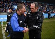 24 February 2019; Waterford manager Paraic Fanning shakes hands with Dublin manager Mattie Kenny after the Allianz Hurling League Division 1B Round 4 match between Dublin and Waterford at Parnell Park in Donnycarney, Dublin. Photo by Daire Brennan/Sportsfile