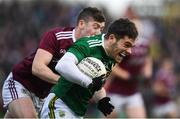 24 February 2019; Tomás Ó Sé of Kerry in action against Johnny Heaney of Galway during the Allianz Football League Division 1 Round 4 match between Galway and Kerry at Tuam Stadium in Tuam, Galway.  Photo by Stephen McCarthy/Sportsfile