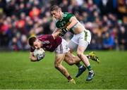24 February 2019; Eoghan Kerin of Galway in action against Stephen O'Brien of Kerry during the Allianz Football League Division 1 Round 4 match between Galway and Kerry at Tuam Stadium in Tuam, Galway.  Photo by Stephen McCarthy/Sportsfile