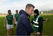 24 February 2019; Fermanagh Manager Rory Gallagher leaves the field after the Allianz Football League Division 2 Round 4 match between Donegal and Fermanagh at O'Donnell Park in Letterkenny, Co Donegal. Photo by Oliver McVeigh/Sportsfile