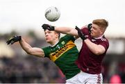 24 February 2019; Tommy Walsh of Kerry in action against Sean Andy O Ceallaigh of Galway during the Allianz Football League Division 1 Round 4 match between Galway and Kerry at Tuam Stadium in Tuam, Galway.  Photo by Stephen McCarthy/Sportsfile