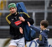 24 February 2019; Kilkenny goalkeeper Eoin Murphy, who scored the winning point, celebrates with a young supporter after the Allianz Hurling League Division 1A Round 4 match between Tipperary and Kilkenny at Semple Stadium in Thurles, Co Tipperary. Photo by Ray McManus/Sportsfile