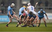24 February 2019; Players from both sides, including Danny Sutcliffe of Dublin and Callum Lyons of Waterford battle for possession during the Allianz Hurling League Division 1B Round 4 match between Dublin and Waterford at Parnell Park in Donnycarney, Dublin. Photo by Daire Brennan/Sportsfile