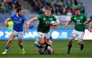 24 February 2019; Tadhg Furlong of Ireland is tackled by Leonardo Ghiraldini of Italy during the Guinness Six Nations Rugby Championship match between Italy and Ireland at the Stadio Olimpico in Rome, Italy. Photo by Brendan Moran/Sportsfile