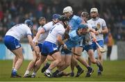 24 February 2019; Oisín O'Rorke of Dublin in action against Noel Connors of Waterford during the Allianz Hurling League Division 1B Round 4 match between Dublin and Waterford at Parnell Park in Donnycarney, Dublin. Photo by Daire Brennan/Sportsfile