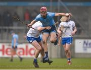 24 February 2019; Danny Sutcliffe of Dublin in action against Austin Gleeson of Waterford during the Allianz Hurling League Division 1B Round 4 match between Dublin and Waterford at Parnell Park in Donnycarney, Dublin. Photo by Daire Brennan/Sportsfile