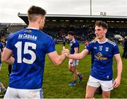 24 February 2019; Niall Clerkin, right, and Conor Madden of Cavan congratulate each other following their side's victory during the Allianz Football League Division 1 Round 4 match between Cavan and Roscommon at the Kingspan Breffni Park in Cavan. Photo by Seb Daly/Sportsfile