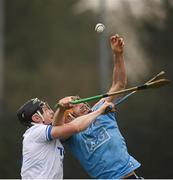 24 February 2019; Eamonn Dillon of Dublin in action against Philip Mahony of Waterford during the Allianz Hurling League Division 1B Round 4 match between Dublin and Waterford at Parnell Park in Donnycarney, Dublin. Photo by Daire Brennan/Sportsfile