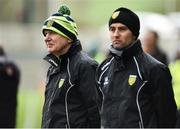 24 February 2019; Donegal Manager Declan Bonner during the Allianz Football League Division 2 Round 4 match between Donegal and Fermanagh at O'Donnell Park in Letterkenny, Co Donegal. Photo by Oliver McVeigh/Sportsfile