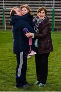 24 February 2019; Cavan manager Mickey Graham with his daughter Lauren, age 4, and mother-in-law Delia Harkin following his side's victory during the Allianz Football League Division 1 Round 4 match between Cavan and Roscommon at the Kingspan Breffni Park in Cavan. Photo by Seb Daly/Sportsfile