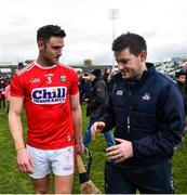 24 February 2019; Eoin Cadogan of Cork with selector Kieran Murphy the Allianz Hurling League Division 1A Round 4 match between Limerick and Cork at the Gaelic Grounds in Limerick. Photo by David Fitzgerald/Sportsfile