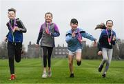 26 February 2019; KILKENNY YOUTH RUN FOR FUN: Vhi, in partnership with the Irish Youth Foundation, celebrated the successful completion of the 'Run for Fun' programme by 20 young people from the Ballycallan Youth Club in Kilkenny this weekend. 'Run for Fun' is a programme developed by Vhi in partnership with the Irish Youth Foundation, to encourage young people living in rural and vulnerable communities in Ireland to embrace the benefits offered through running. 20 young people who took part in the programme were awarded medals at the Kilkenny parkrun on Saturday for taking part in the programme and also completing a 5km parkrun. The group spent eight weeks training, building up their fitness level and learning about healthy eating. As part of the programme, there was also a nutritional element so the young people could learn about and taste healthy food options. The goal throughout the programme was for the young people to complete a 5km parkrun which they did on Saturday 23rd February at Kilkenny parkrun. Pictured are Ryan Corcoran, Katie Marnell, Geoff Newry and Niamh Hogan. Photo by Harry Murphy/Sportsfile