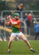 24 February 2019; David English of Carlow during the Allianz Hurling League Division 1B Round 4 match between Carlow and Laois at Netwatch Cullen Park in Carlow. Photo by Harry Murphy/Sportsfile