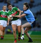 23 February 2019; Rachel Kearns of Mayo is tackled by Lucy Collins of Dublin during the Lidl Ladies NFL Division 1 Round 3 match between Dublin and Mayo at Croke Park in Dublin. Photo by Ray McManus/Sportsfile