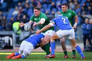 24 February 2019; Tadhg Furlong of Ireland is tackled by Maxime Mbanda of Italy during the Guinness Six Nations Rugby Championship match between Italy and Ireland at the Stadio Olimpico in Rome, Italy. Photo by Ramsey Cardy/Sportsfile