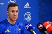 25 February 2019; Rory O'Loughlin during a Leinster Rugby Press Conference at Leinster Rugby Headquarters in UCD, Dublin. Photo by Piaras Ó Mídheach/Sportsfile