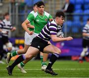 12 February 2019; Matthew McGettrick of Terenure College during the Bank of Ireland Leinster Schools Senior Cup Round 2 match between Gonzaga College and Terenure College at Energia Park in Donnybrook, Dublin.  Photo by Brendan Moran/Sportsfile