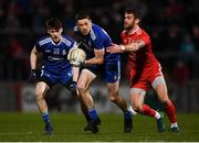 23 February 2019; Conor McManus of Monaghan and Ronan McNamee of Tyrone during the Allianz Football League Division 1 Round 4 match between Tyrone and Monaghan at Healy Park in Omagh, Co Tyrone. Photo by Stephen McCarthy/Sportsfile
