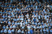 25 February 2019; St Michael's College supporters moments before their side's first try the Bank of Ireland Leinster Schools Senior Cup Round 2 match between Blackrock College and St Michael's College at Energia Park in Donnybrook, Dublin. Photo by David Fitzgerald/Sportsfile