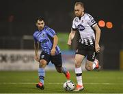 25 February 2019; Chris Shields of Dundalk in action against Conor Davis of UCD during the SSE Airtricity League Premier Division match between Dundalk and UCD at Oriel Park in Dundalk, Co Louth. Photo by Eóin Noonan/Sportsfile