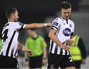 25 February 2019; Dane Massey of Dundalk, left, with Daniel Cleary of Dundalk following the SSE Airtricity League Premier Division match between Dundalk and UCD at Oriel Park in Dundalk, Co Louth. Photo by Eóin Noonan/Sportsfile