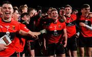 20 February 2019; UCC players celebrate after the Electric Ireland HE GAA Sigerson Cup Final match between St Mary's University College Belfast and University College Cork at O'Moore Park in Portlaoise, Laois. Photo by Piaras Ó Mídheach/Sportsfile
