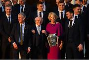 26 February 2019; The President of Ireland Michael D Higgins and his wife Sabina greet manager John Kiely and captain Declan Hannon during a reception for the 2018 All-Ireland Hurling Champions Limerick at Áras an Uachtaráin in Dublin. Photo by Ramsey Cardy/Sportsfile