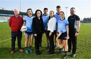 27 February 2019; In attendance at Parnell Park to launch AIG Dub Club Health initiative, from left, Philip Carr, Ciaran Carr Foundation, Niamh McEvoy, Rebecca Claffey, Direct Marketing & Sponsorship Executive, AIG Ireland, Cian O'Sullivan, Ger McTavish, Chair of Dublin GAA's Health & Wellbeing Committee, Chris Crummey, Roisín Baker and David Greville, MD of Heartsafety Solutions. The Heart Safety Roadshow is the first programme in the initiative that will provide training around CPR, choking, defibrillator/AED usage, storage and maintenance. Go to www.aig.ie/health to find out more.  Photo by Brendan Moran/Sportsfile