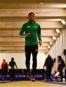 28 February 2019; Joseph Ojewumi of Ireland  during the previews of the European Indoor Athletics Championships at the Emirates Arena in Glasgow, Scotland.  Photo by Sam Barnes/Sportsfile