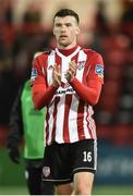 25 February 2019; Patrick McClean of Derry City during the SSE Airtricity League Premier Division match between Derry City and Waterford at the Ryan McBride Brandwell Stadium in Derry. Photo by Oliver McVeigh/Sportsfile