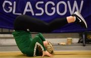 28 February 2019; Molly Scott of Ireland during the previews of the European Indoor Athletics Championships at the Emirates Arena in Glasgow, Scotland.  Photo by Sam Barnes/Sportsfile