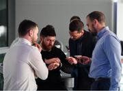 1 March 2019; Guests network prior to the UEFA Masterclass in partnership with the Federation of Irish Sport at the Aviva Stadium in Dublin. Photo by Seb Daly/Sportsfile