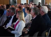 1 March 2019; Guests listen to presentations during the UEFA Masterclass in partnership with the Federation of Irish Sport at the Aviva Stadium in Dublin. Photo by Seb Daly/Sportsfile