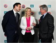 1 March 2019; Noel Mooney, Head of National Association Development, UEFA, left, Mary O'Connor, CEO, Federation of Irish Sport, centre, and Roddy Guiney, Chairman of Federation of Irish Sport, during the UEFA Masterclass in partnership with the Federation of Irish Sport at the Aviva Stadium in Dublin. Photo by Seb Daly/Sportsfile