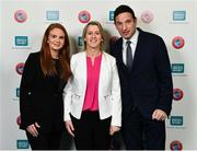 1 March 2019; Sinead Conroy, Business Services Manager, Federation of Irish Sport, left, Mary O'Connor, CEO, Federation of Irish Sport, centre, and Noel Mooney, Head of National Association Development, UEFA, during the UEFA Masterclass in partnership with the Federation of Irish Sport at the Aviva Stadium in Dublin. Photo by Seb Daly/Sportsfile