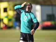 1 March 2019; Rob Kearney during a Ireland Rugby squad open training session at Queen's University in Belfast, Antrim. Photo by Oliver McVeigh/Sportsfile