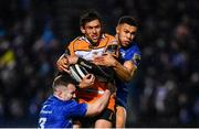 1 March 2019; Louis Fouche of Toyota Cheetahs is tackled by Rory O'Loughlin, left, and Adam Byrne of Leinster during the Guinness PRO14 Round 17 match between Leinster and Toyota Cheetahs at the RDS Arena in Dublin. Photo by Ramsey Cardy/Sportsfile
