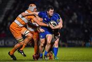 1 March 2019; Conor O'Brien of Leinster is tackled by JP du Preez and Tian Meyer of Toyota Cheetahs  during the Guinness PRO14 Round 17 match between Leinster and Toyota Cheetahs at the RDS Arena in Dublin. Photo by Brendan Moran/Sportsfile
