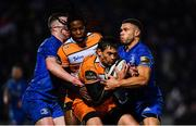 1 March 2019; Louis Fouche is tackled by Adam Byrne of Leinster during the Guinness PRO14 Round 17 match between Leinster and Toyota Cheetahs at the RDS Arena in Dublin. Photo by Ramsey Cardy/Sportsfile