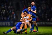 1 March 2019; Louis Fouche is tackled by Rory O'Loughlin, left, and Adam Byrne of Leinster during the Guinness PRO14 Round 17 match between Leinster and Toyota Cheetahs at the RDS Arena in Dublin. Photo by Ramsey Cardy/Sportsfile