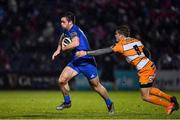 1 March 2019; Conor O'Brien of Leinster is tackled by Tian Meyer of Toyota Cheetahs during the Guinness PRO14 Round 17 match between Leinster and Toyota Cheetahs at the RDS Arena in Dublin. Photo by Brendan Moran/Sportsfile
