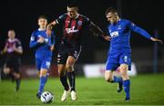 1 March 2019; Ali Reghba of Bohemians in action against Jonathan Lunney of Waterford during the SSE Airtricity League Premier Division match between Waterford and Bohemians at the RSC in Waterford. Photo by Harry Murphy/Sportsfile